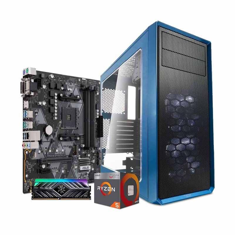 Computadora Pc Cpu Gamer Amd Ryzen 5 2400g Vega 8gb Rgb 1tb