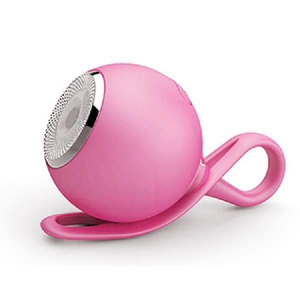 Bocina Portatil Bluetooth Resistente al Agua Color Rosa