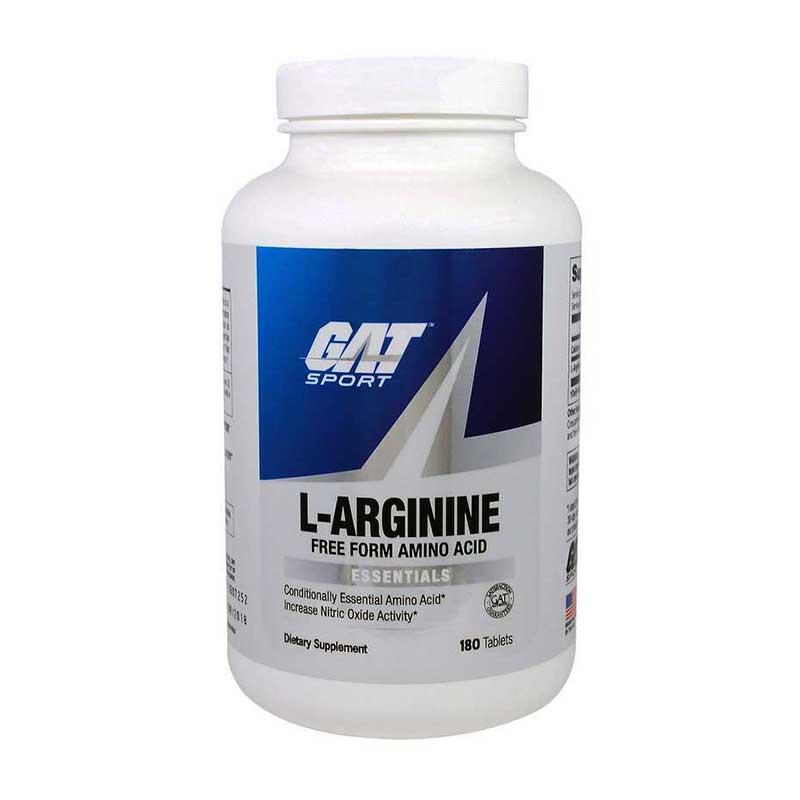 Suplemento Gat, L-arginina, 180 Tabletas
