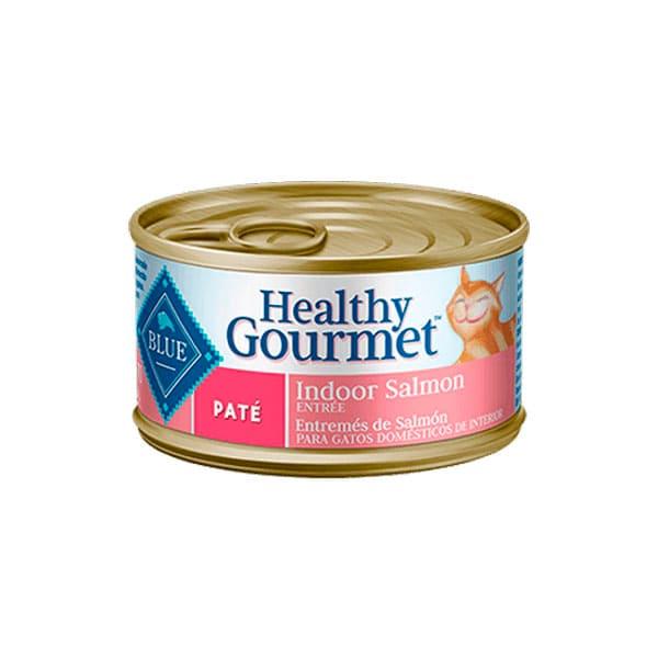 Blue Alimento Húmedo para gato adulto Entrada de parrilla de Salmón en Gravy 900 gr