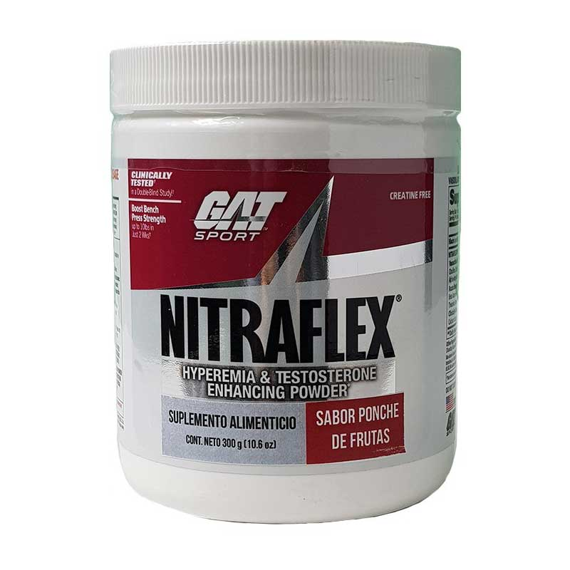 Suplemento Nitraflex Gat Pre Entreno 300g (30 Servicios)
