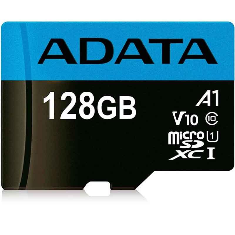 Memoria Micro SDXC 128GB ADATA V10 Clase 10 A1 Juegos Full HD AUSDX128GUICL10A1-RA
