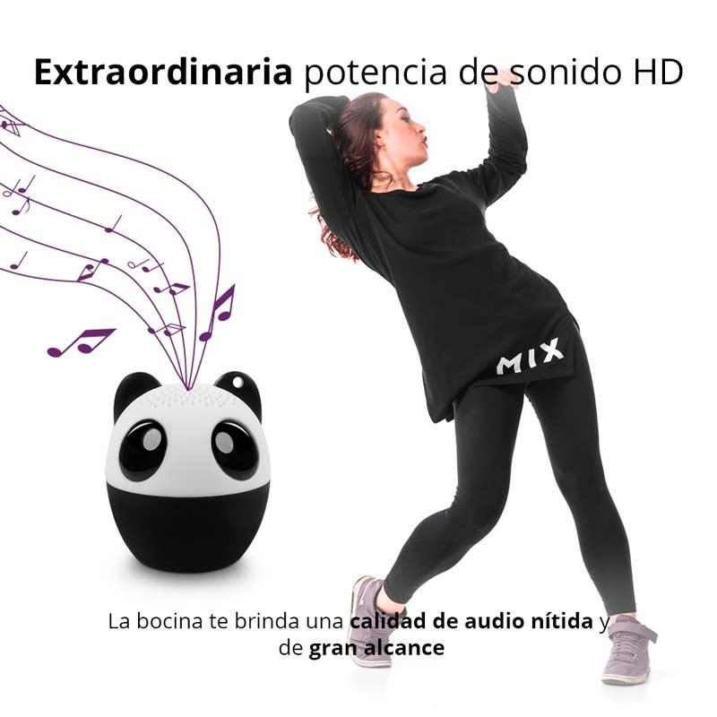 Redlemon Micro Bocina Bluetooth en Forma de Panda, Sonido HD y Gran Potencia, Inalámbrica,