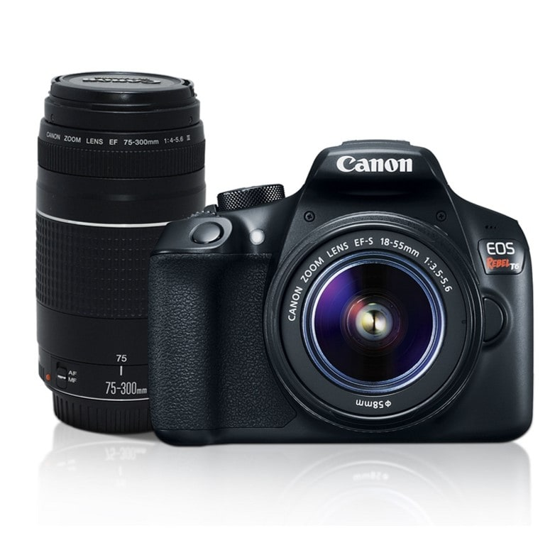 Cámara Canon EOS Rebel T6 KIT + 2 lentes 18-55MM Y 75-300MM
