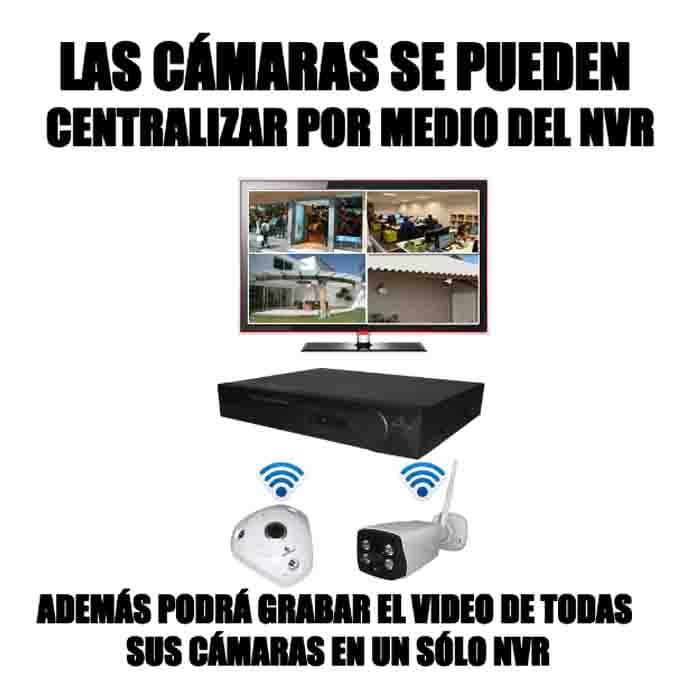 Kit Cctv Inalambrico Wifi 8 Camaras Exterior 360° Video 5 Mp