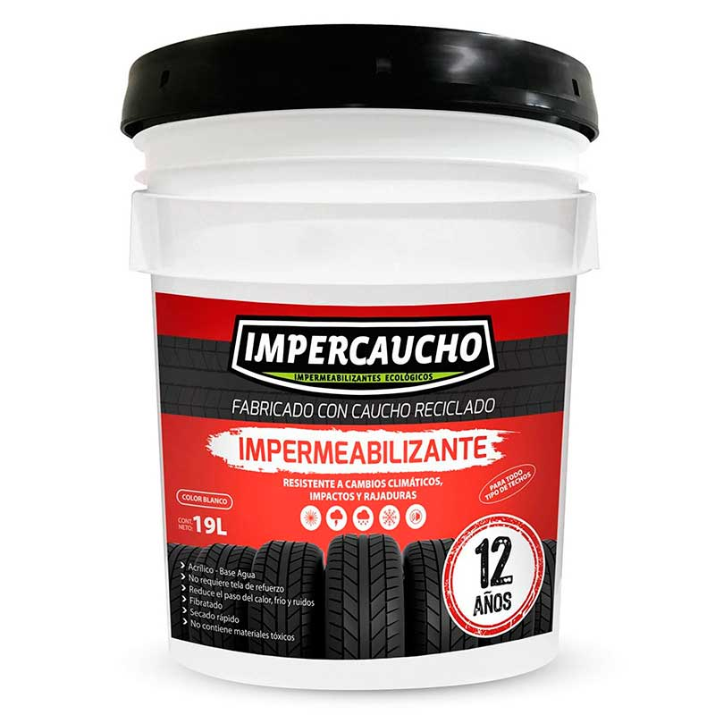 Impermeabilizante Impercaucho 12 años Blanco 19 LTS