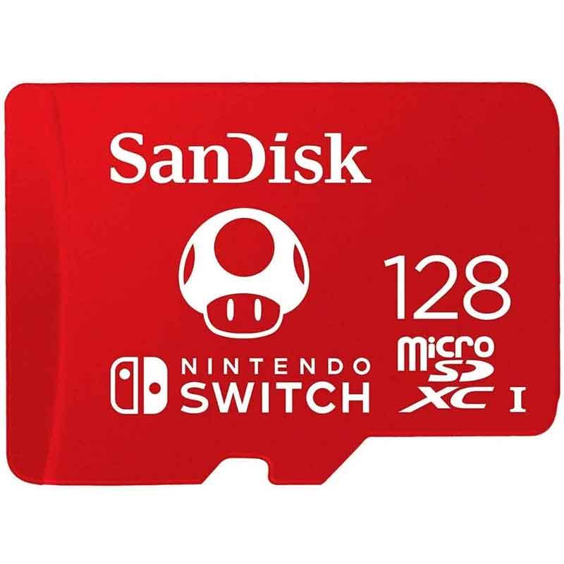 Memoria Micro SD 128GB  Nintendo Switch Oficial SDSQXAO-128G-GNCZN