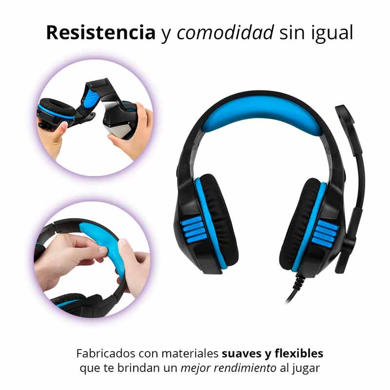 REDLEMON Audífonos Gamer V3 con Sonido Estéreo 360° High Definition, Micrófono Ajustable Omnidireccional