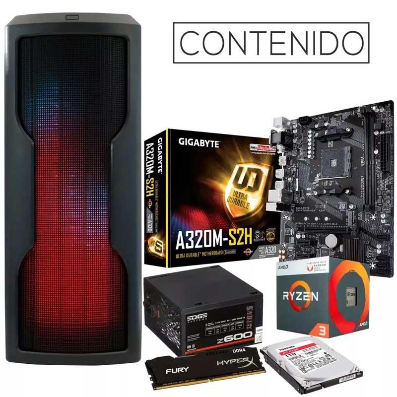Pc Gamer Xtreme Amd Ryzen 3 2200g 8gb 1tb Radeon Rx Vega 8