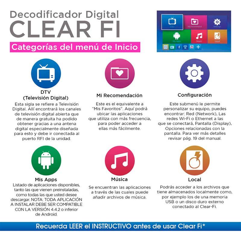 Decodificador Digital Para Tv Clear Fi - SKU 102577