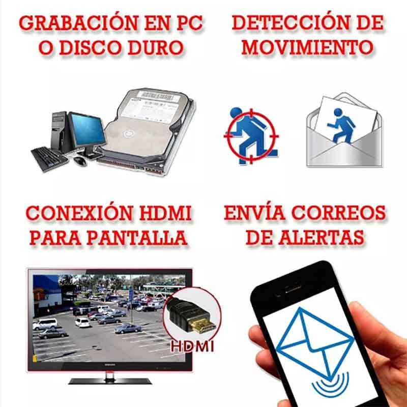 Kit Cctv Wifi 4 Camaras Ip Video Hd 720p Largo Alcance 1 Mp