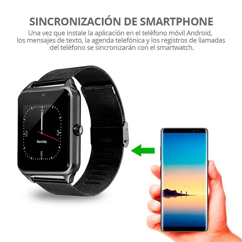Reloj Inteligente Z60, con Tarjeta SIM Independiente, MicroSD, Bluetooth 4.0, Compatible con Andriod 4.3 o superior