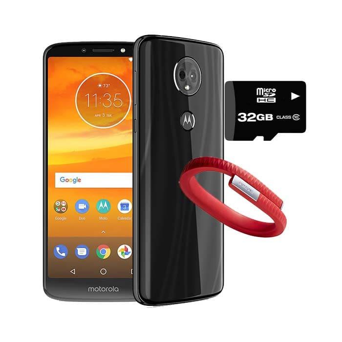 Celular Motorola Moto E5 Plus 32Gb 3GB Ram Negro Dual Sim - XT1924-3-Desbloqueado + Micro SD 32GB + Pulsera