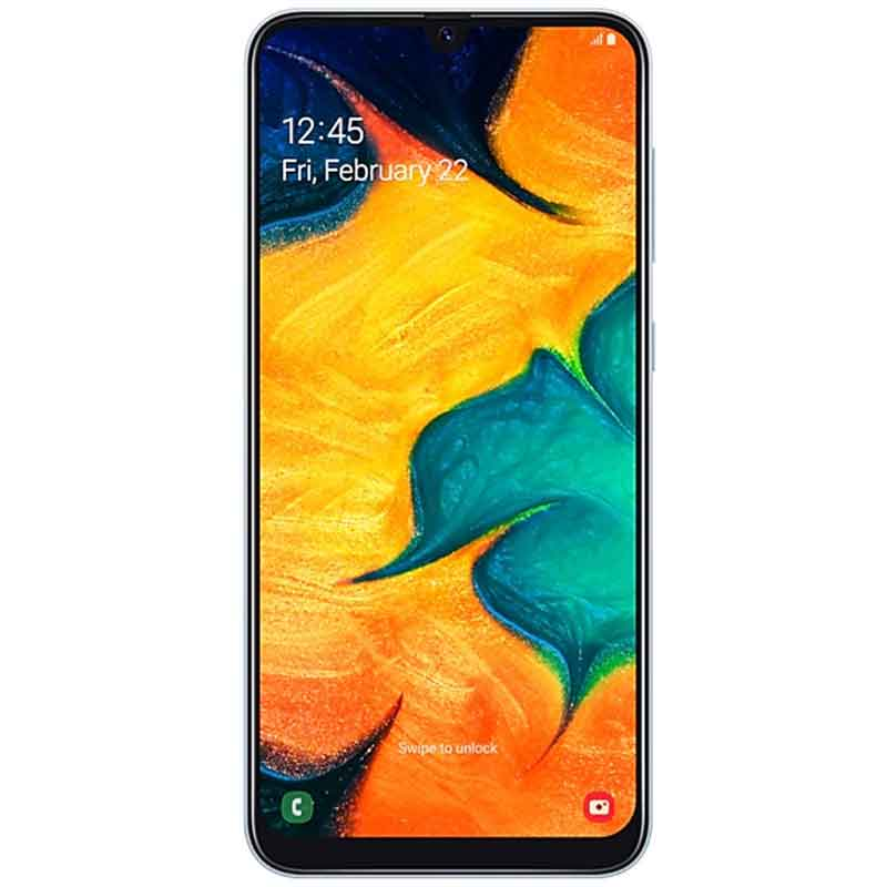 Celular SAMSUNG Galaxy A30 3GB 32GB Octa Core Android 9.0 Pie Blanco Single Sim