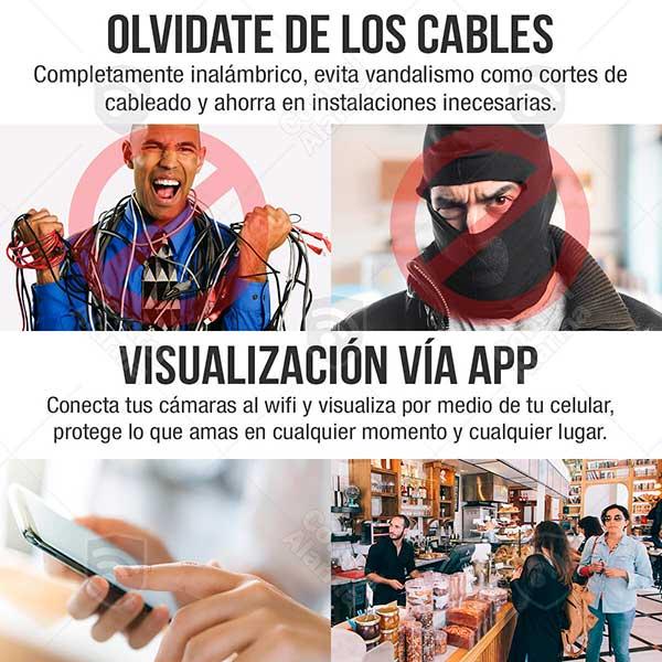 Nvr Wifi 4 Camaras Ip Vigilancia Hd IR Seguridad 1 Mp 2tb