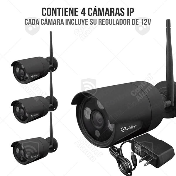 Nvr Wifi 4 Camaras Ip Vigilancia Hd IR Seguridad 1 Mp 1tb