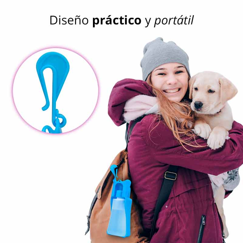 Redlemon Botella de Agua Portátil para Perro 250ml Bebedero