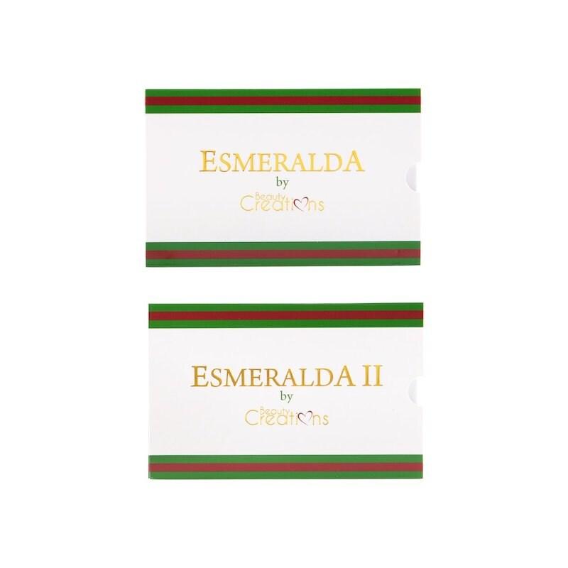 Paquete de 2 paletas de sombras Esmeralda I y Esmeralda II