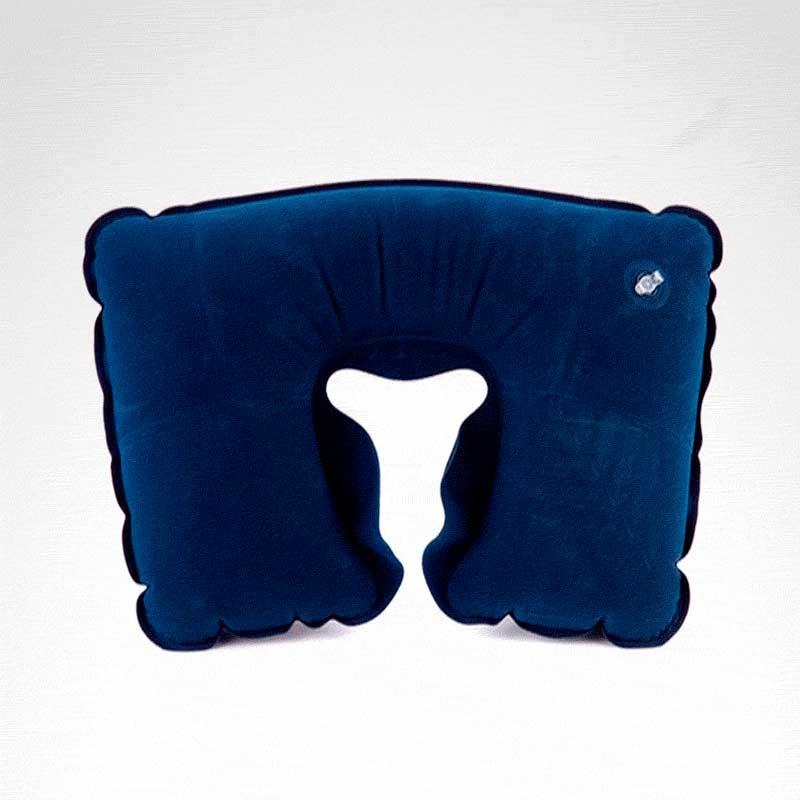 Almohada Inflable Anti-ronquidos azul