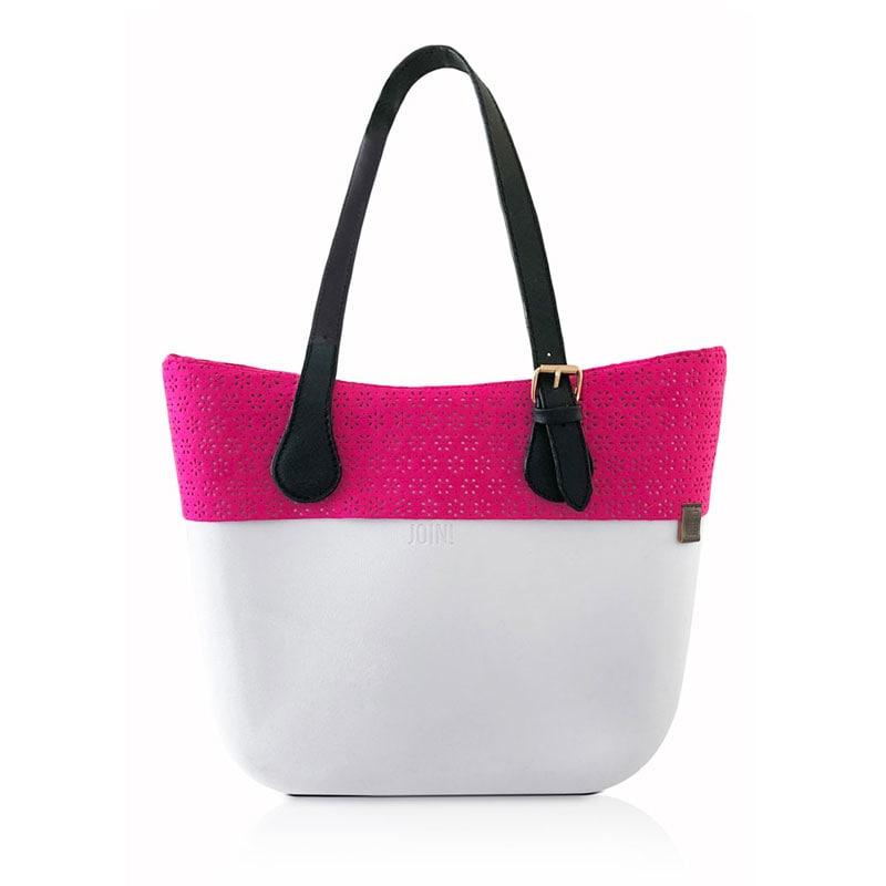 JOIN! HANDBAGS Bolso de Dama Borde rosa Color Blanco