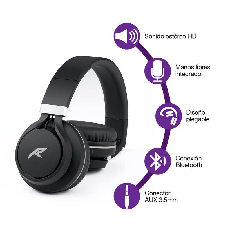 Redlemon Audífonos Bluetooth Inalámbricos tipo Diadema Plegable Sonido HD