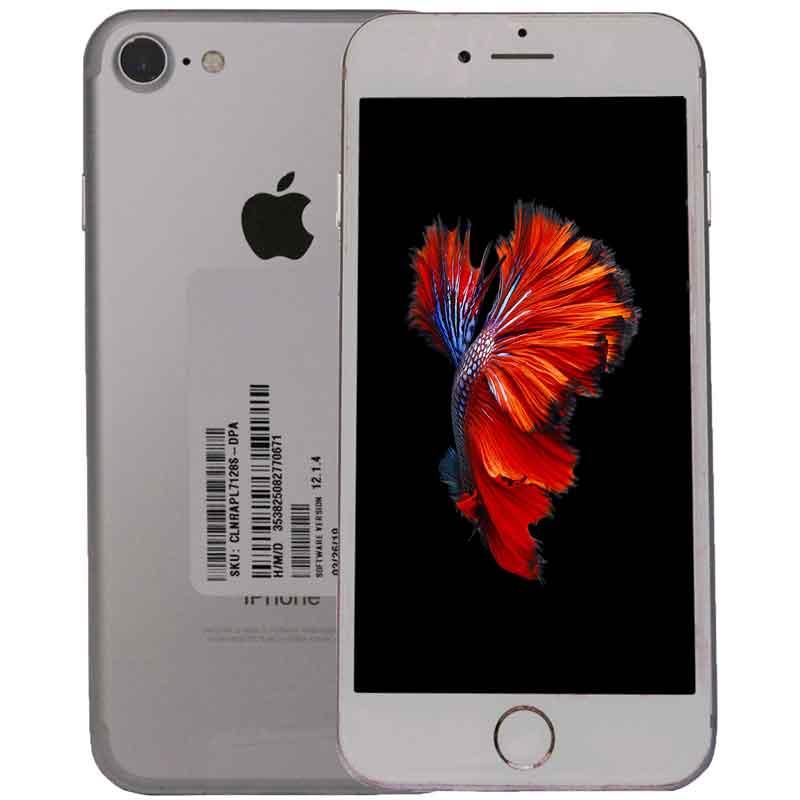 Celular iPhone 7 128gb iOS 12 Video 4k Liberado Plata 3M GTA ReAcondicionado