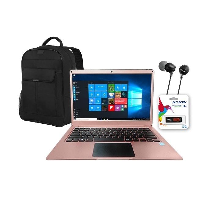 Laptop Hyundai Thinnote Pentium 4GB Ram 32GB 14 pulgadas Windows 10 ROSE GOLD + MOCHILA + AUDIFONOS  + USB DE 8GB