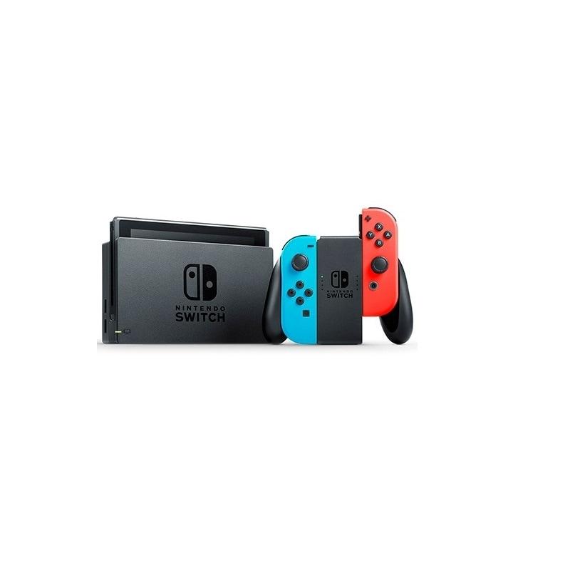 Consola Nintendo Switch 32GB Colores Neon Controles Joy-con Reacondicionado en Caja Genérica