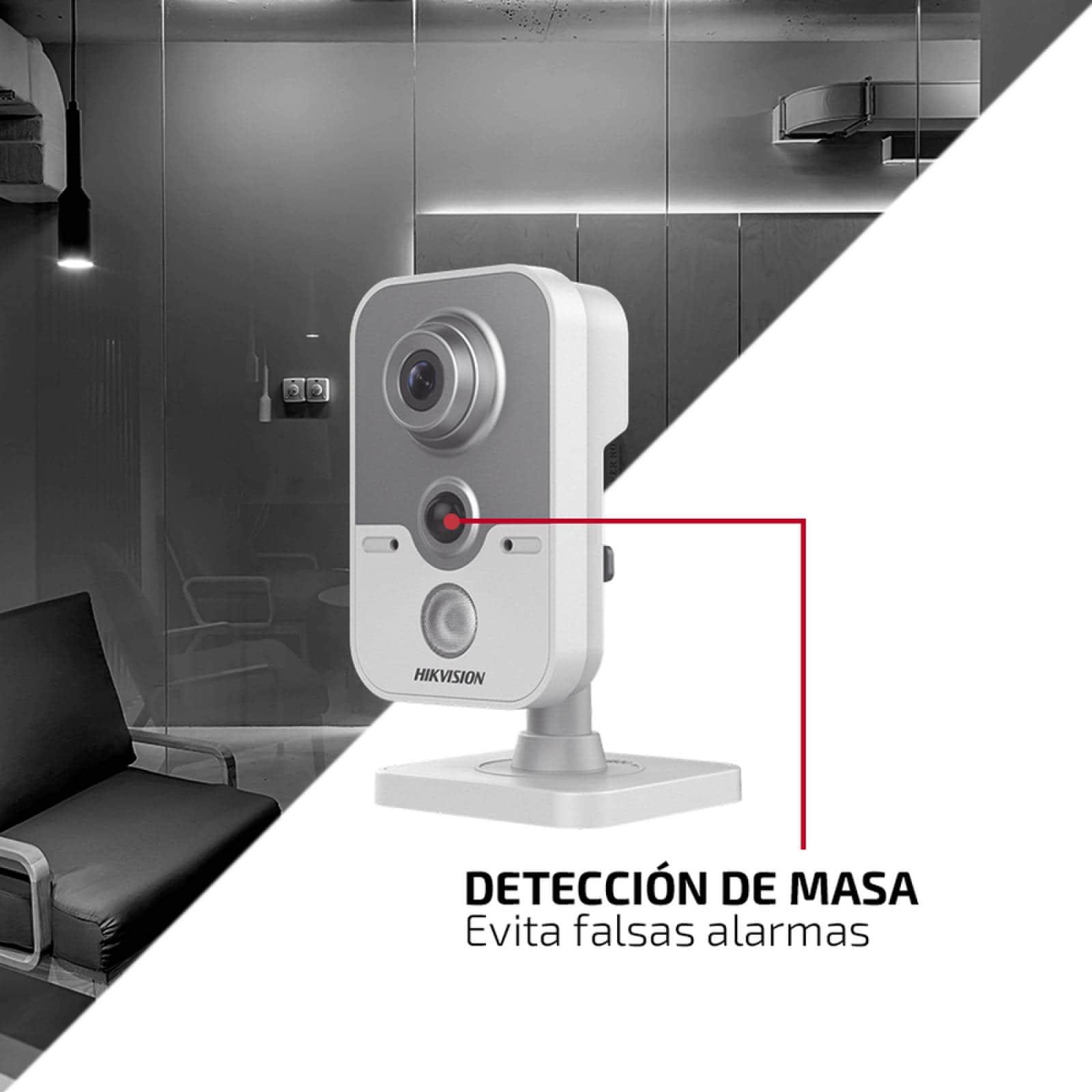 Cubo TURBO 1080p / TECNOLOGÍA PIR / Gran Angular 103º / Lente 2.8 mm / IR EXIR Inteligente 20 mts / Micrófono Integrado / Interior/ HIKVISION