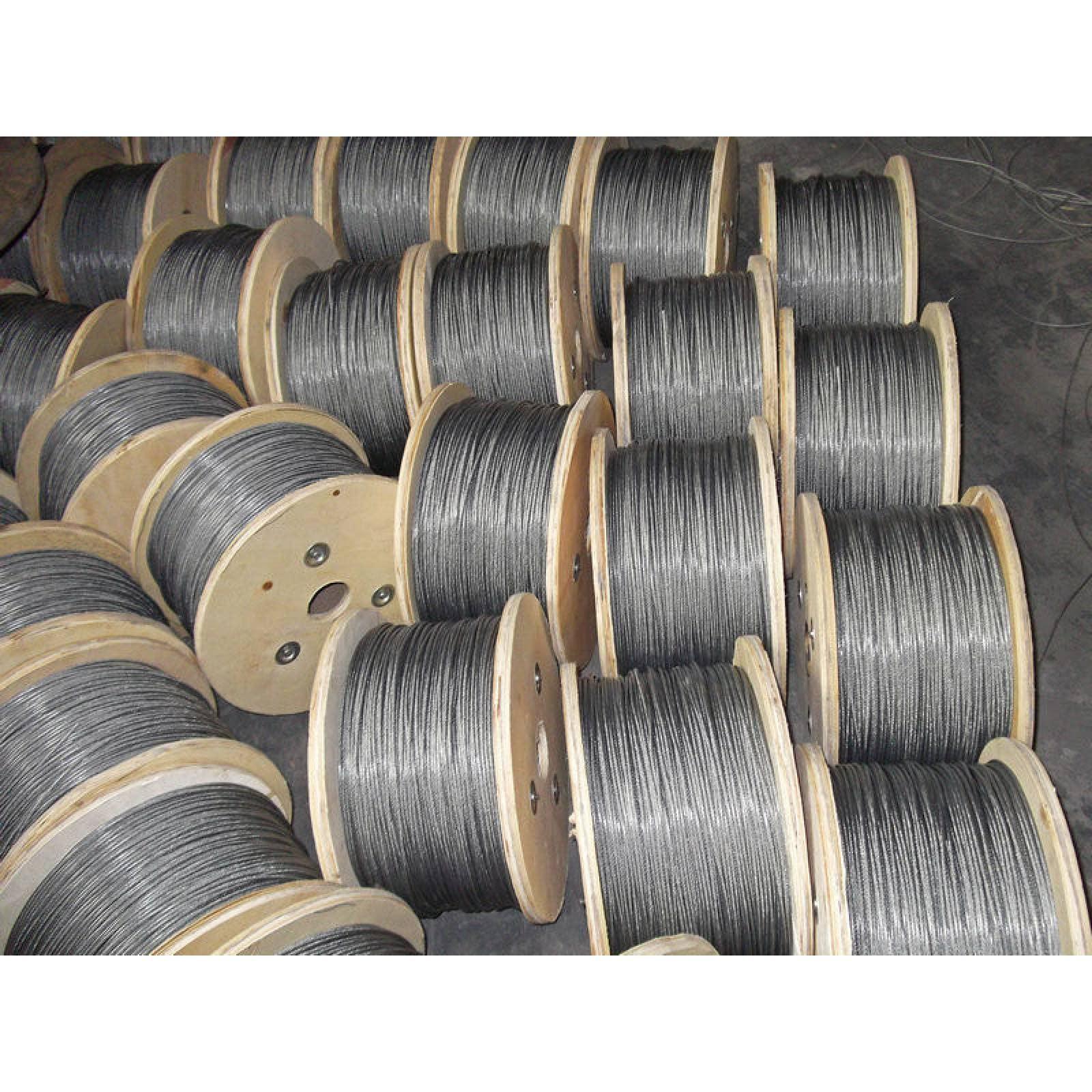 Cable de Acero Galvanizado en Rollo 7X7 5/16 y 300 M. OBI