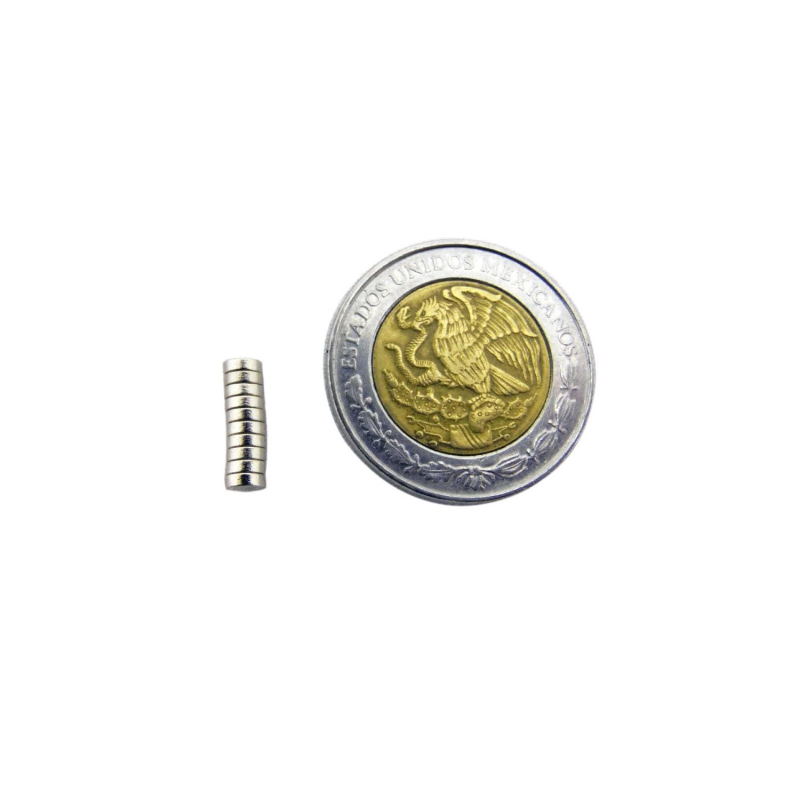 Iman Redondo Neodimio 3 X 1 mm con 1 Pieza OBI