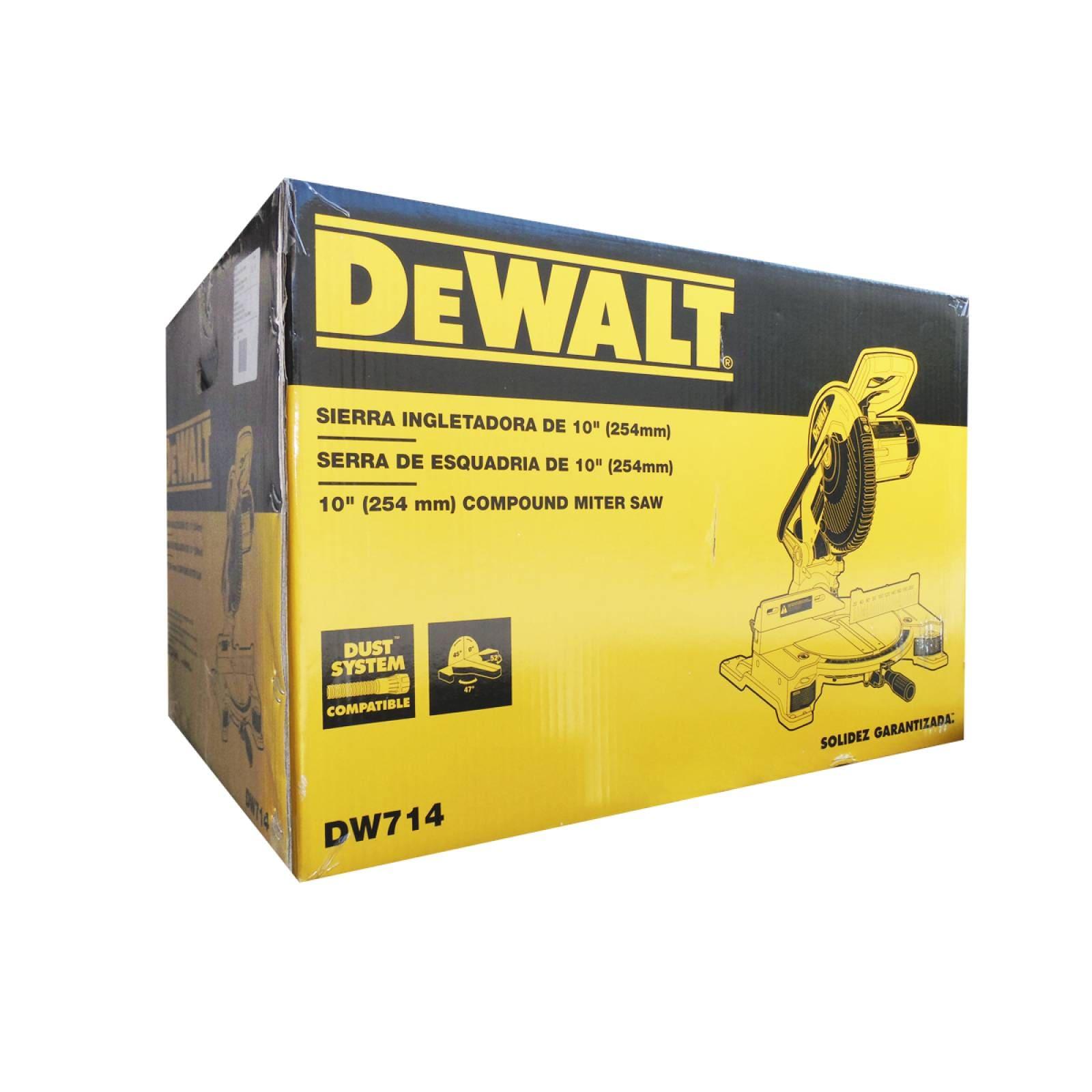 """Sierra Inglete 10"""" Disco Aluminio DW714 Dewalt"""