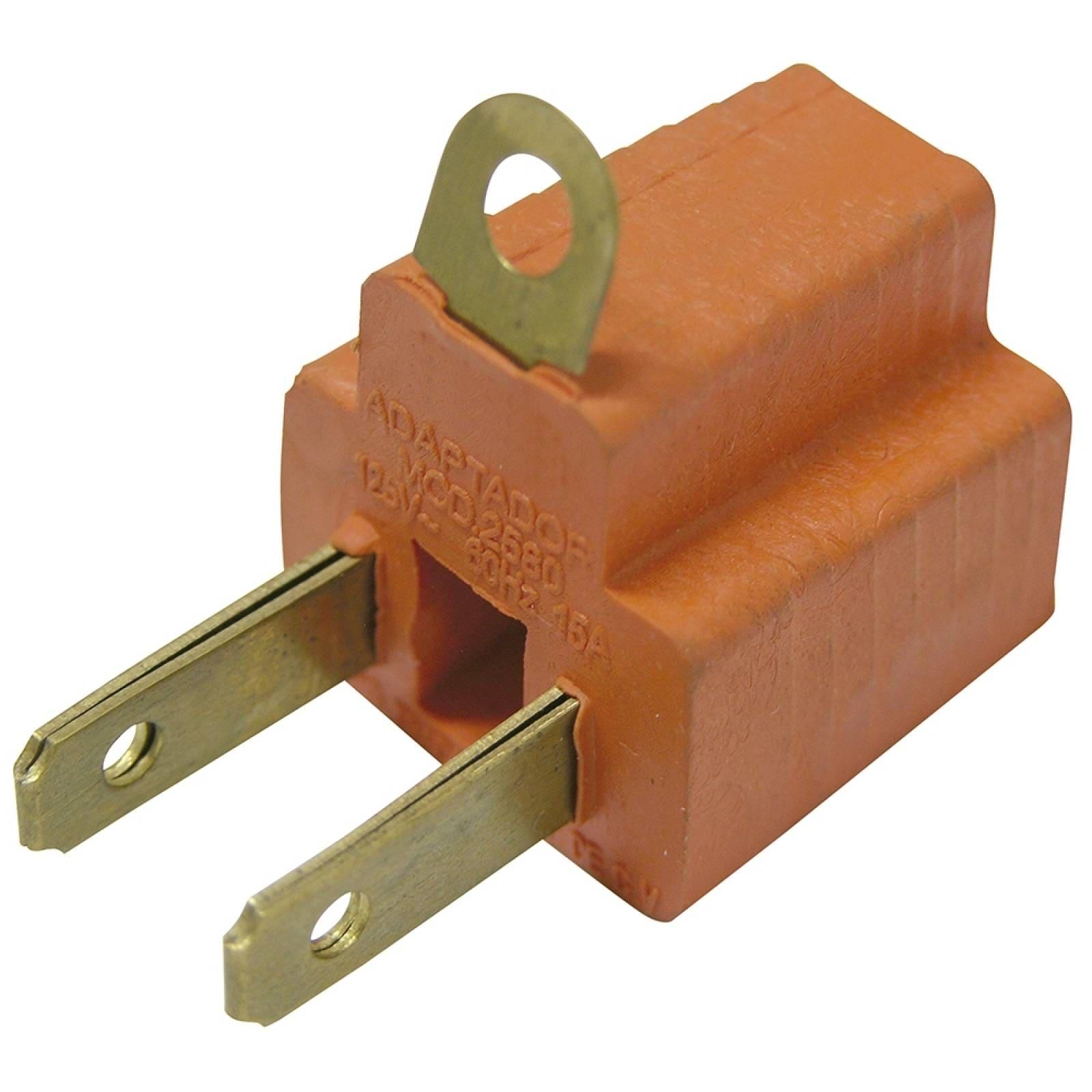 Adaptador clavija PVC de aterrizado a polarizado 136450 Surtek