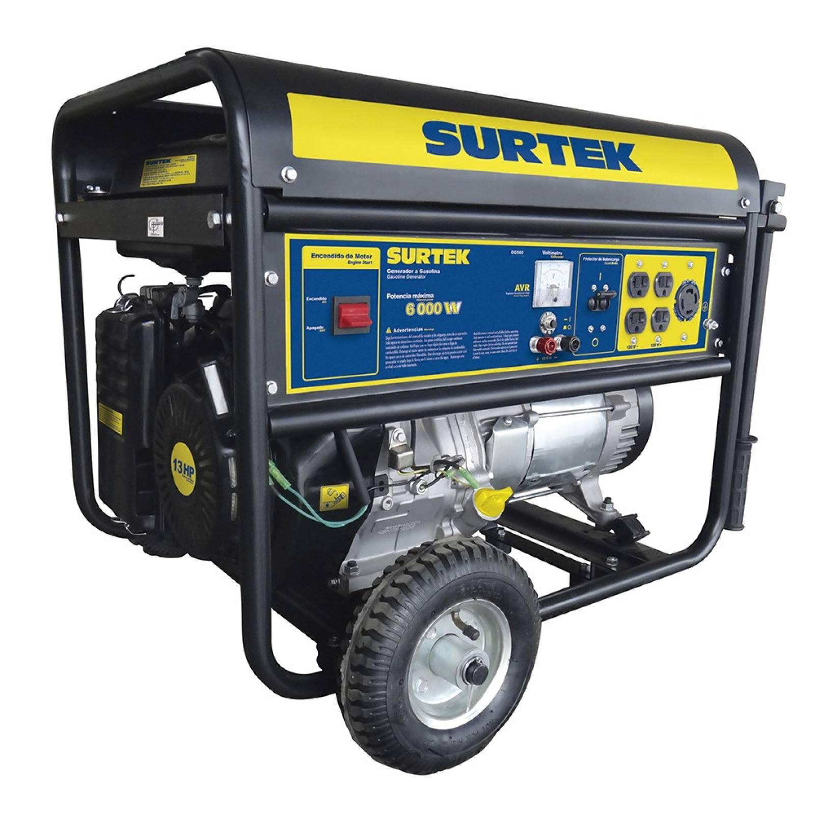 Generador a gasolina 6.0kW max GG560 Surtek