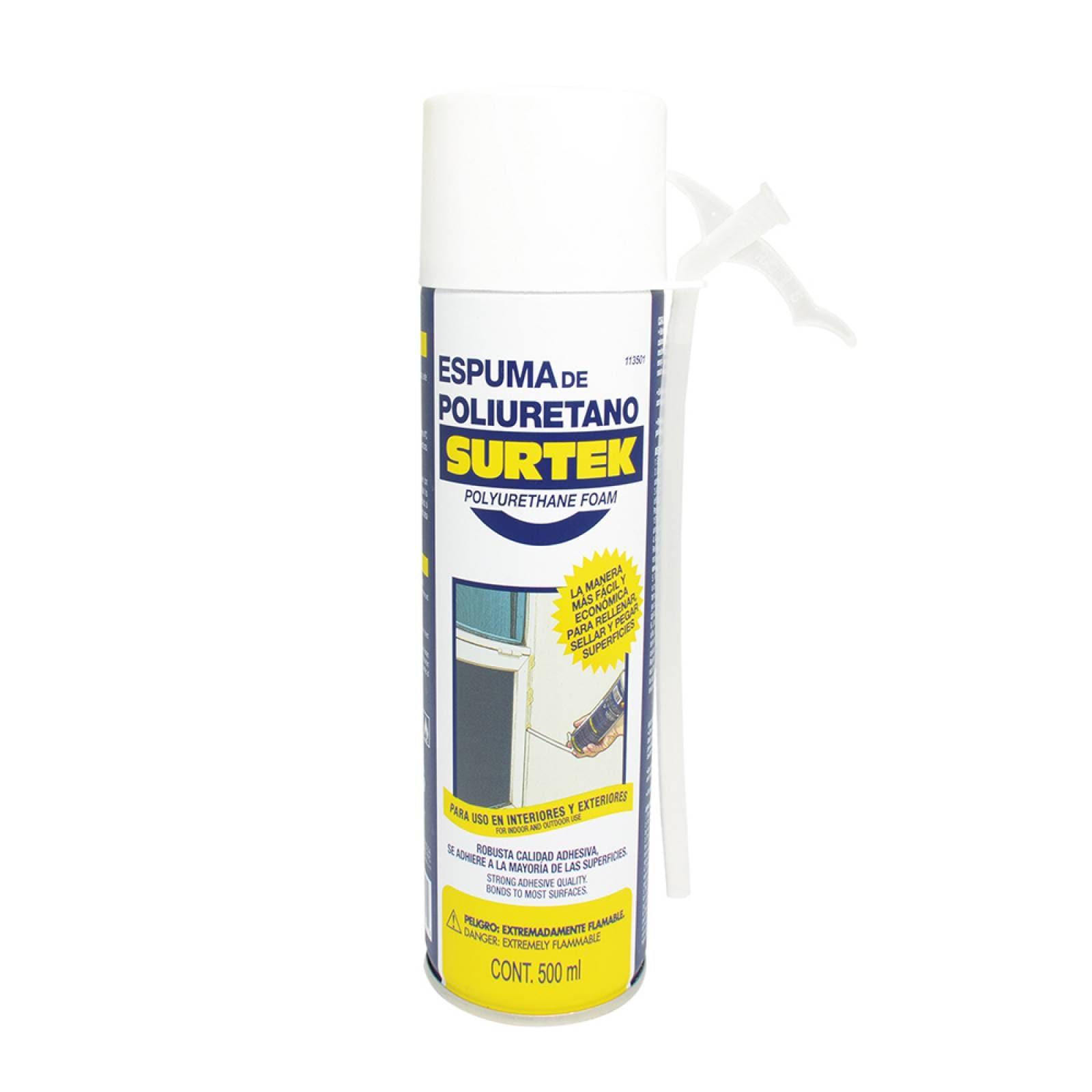Espuma de poliuretano uso industrial 500 ml 113501 Surtek