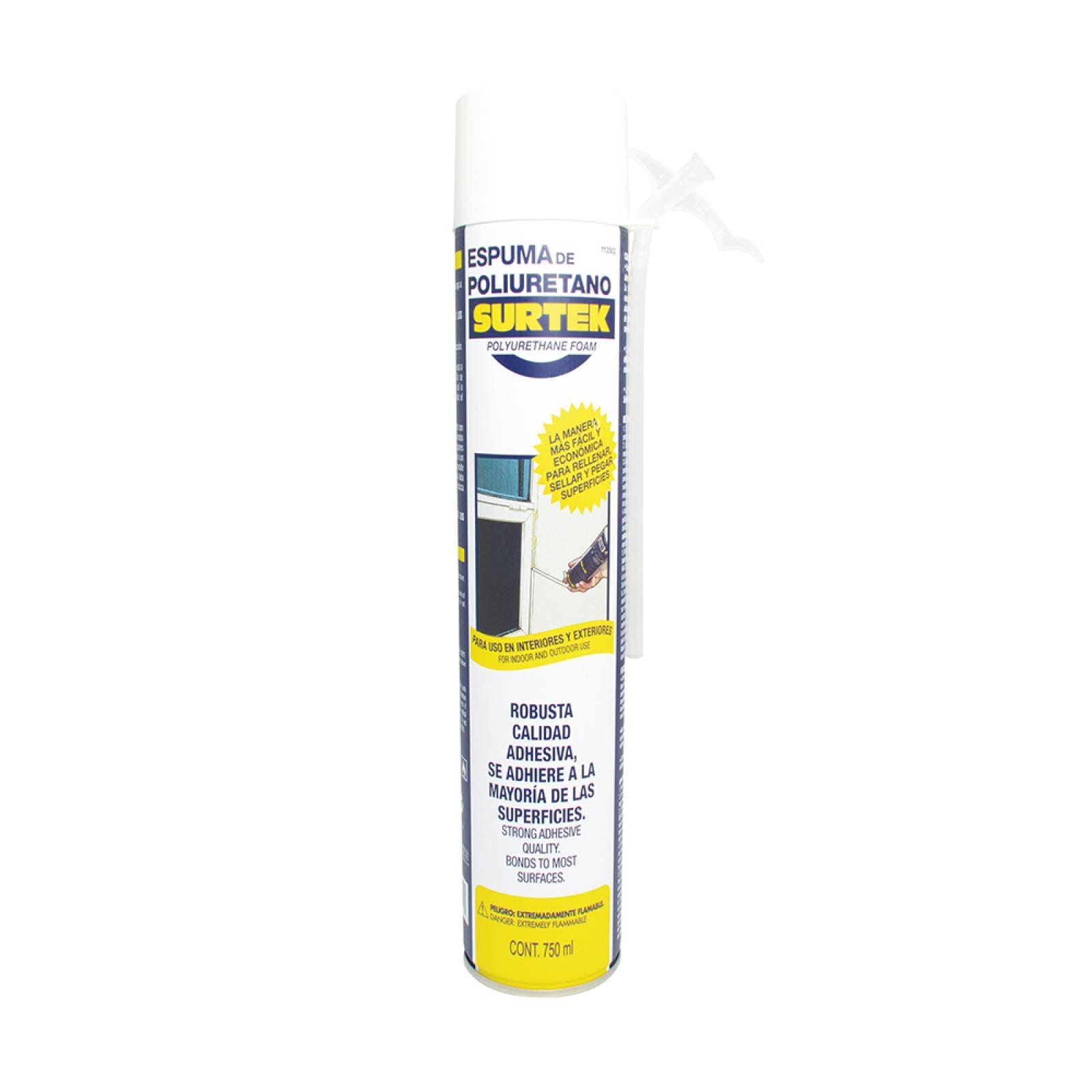 Espuma de poliuretano uso industrial 750 ml 113502 Surtek