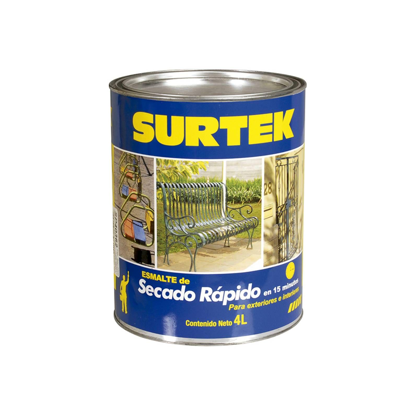 Esmalte de secado rápido negro 4lt SP40399 Surtek