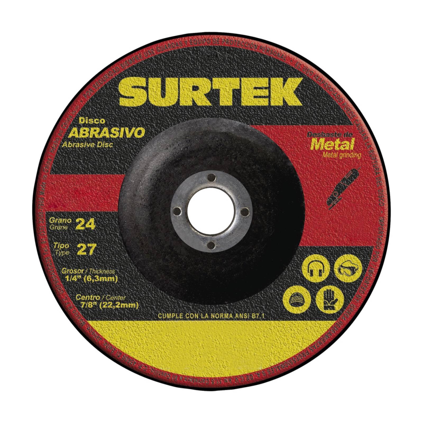 """Disco T/27 Metal 9X1/4"""" 123322 Surtek"""
