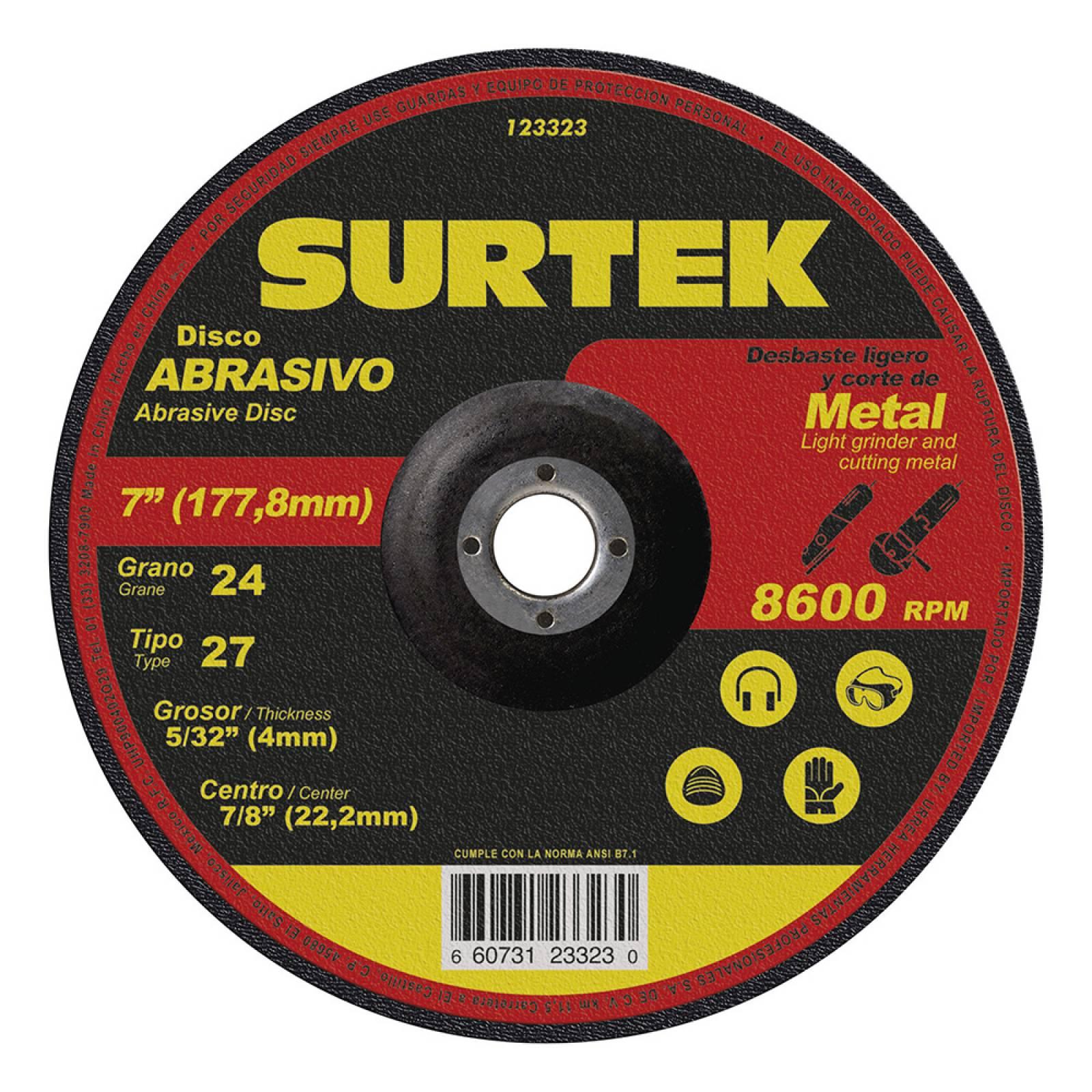 """Disco T/27 Metal 7X5/32"""" 123323 Surtek"""
