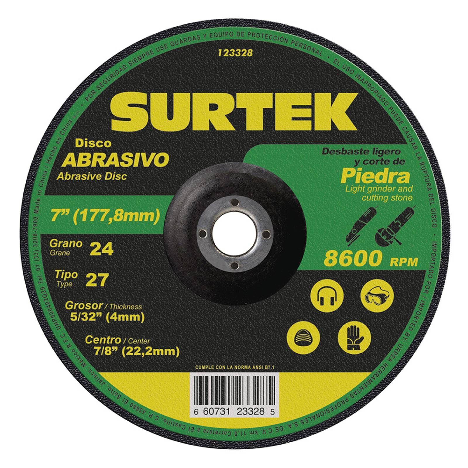 "Disco T/27 Piedra 7X5/32"" 123328 Surtek"