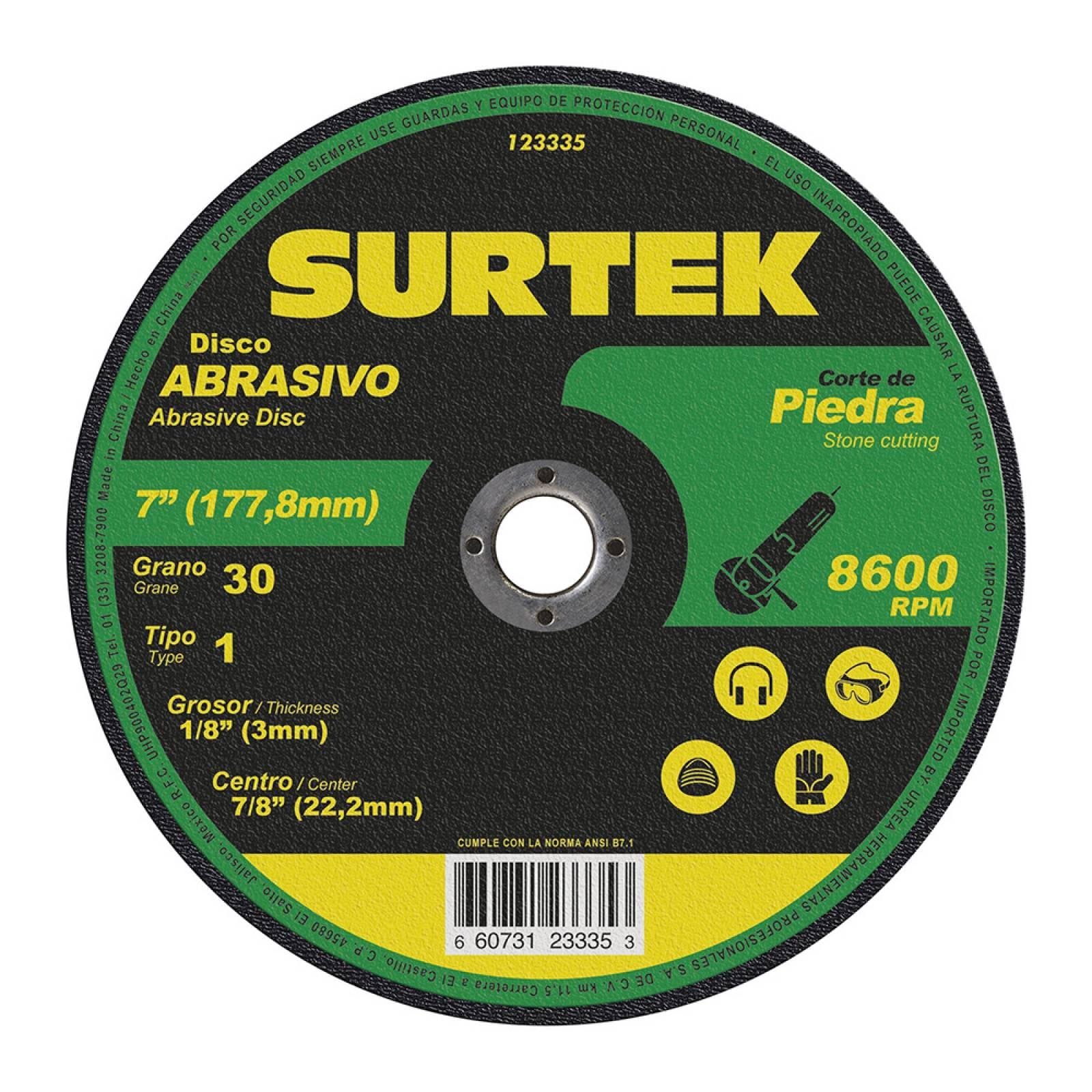 "Disco T/1 Piedra 7X9/64"" 123335 Surtek"