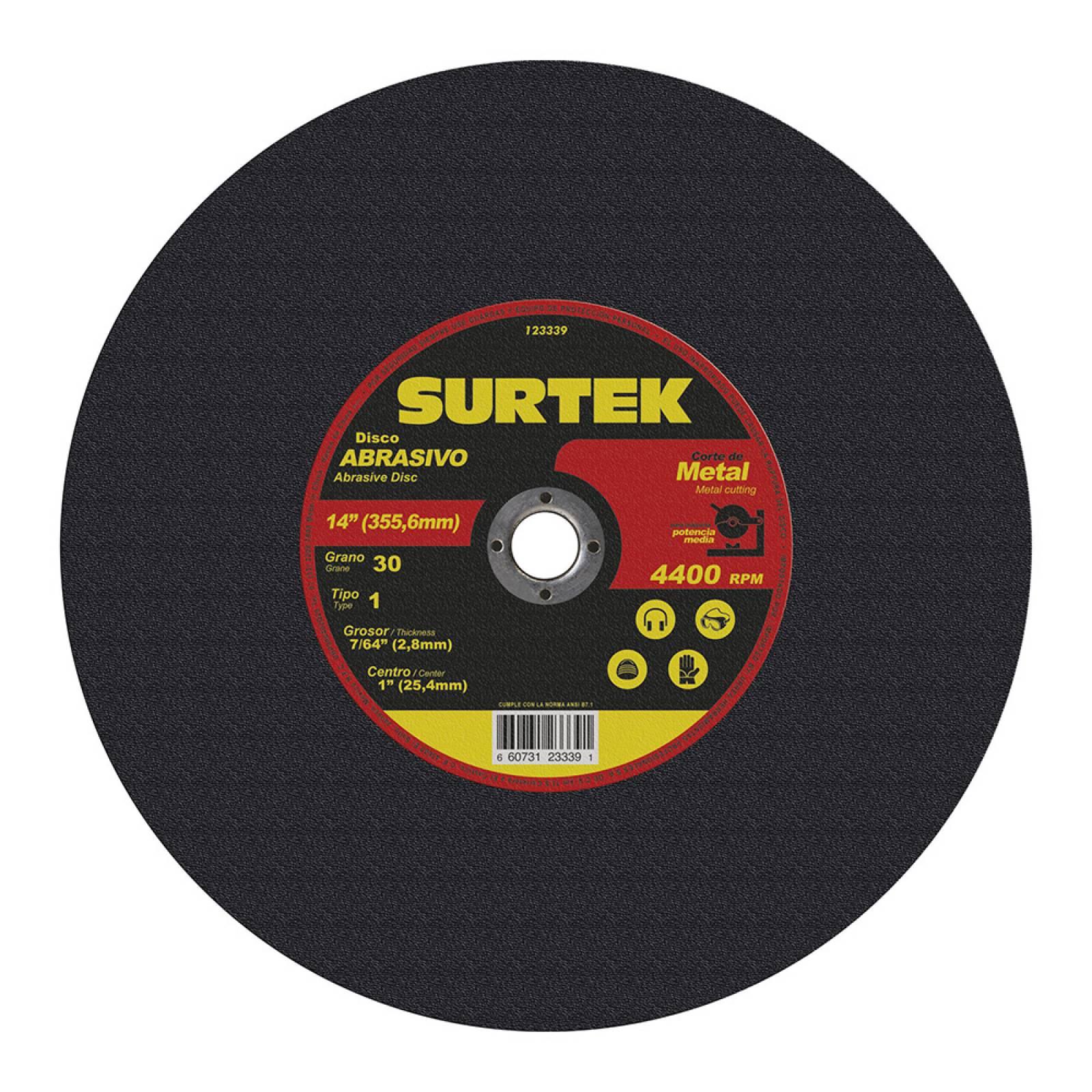 """Disco T/1 Metal 14X7/64"""" A/Pot 123339 Surtek"""