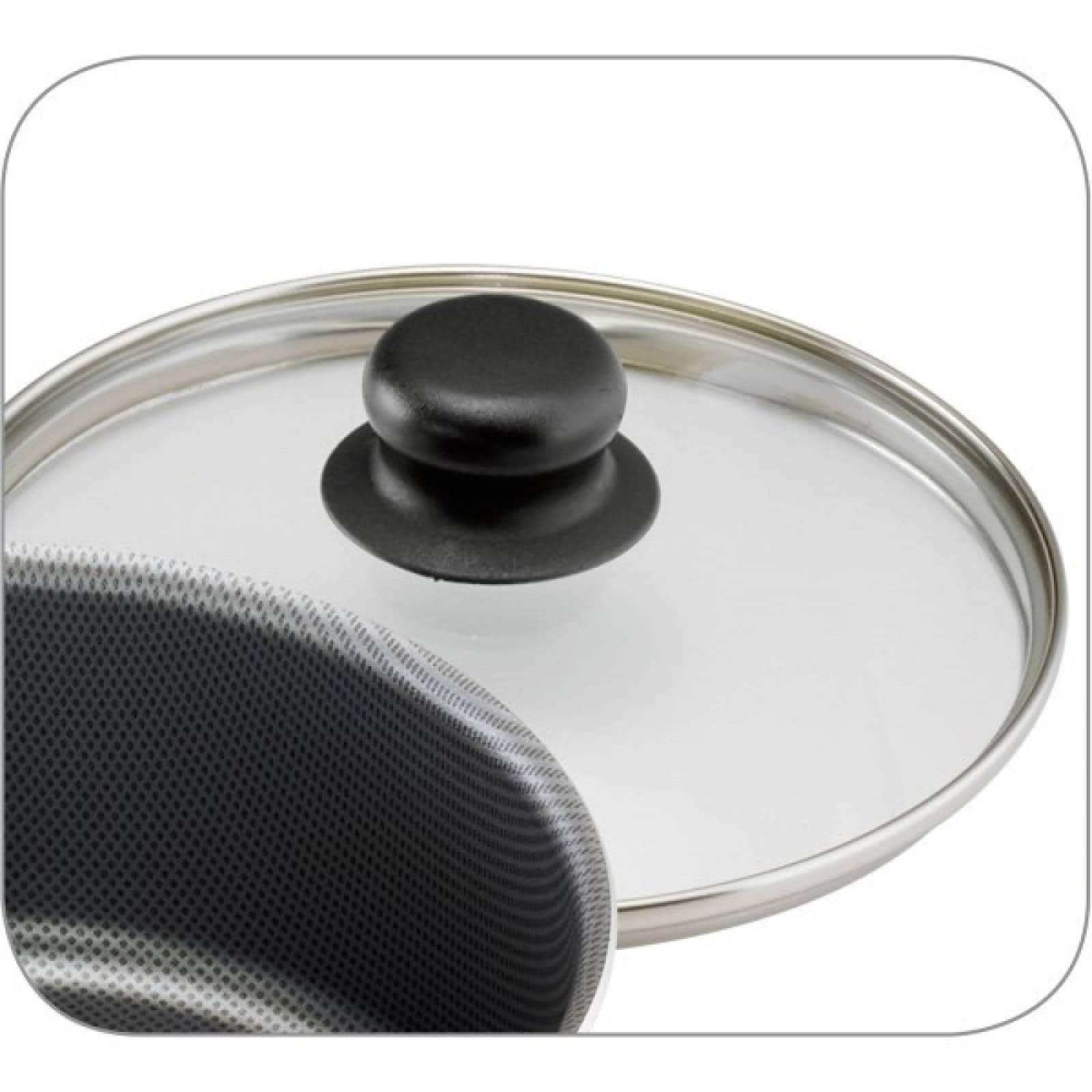 Batería De Cocina Primaware 18 Pcs Negra Aluminio Tramontina