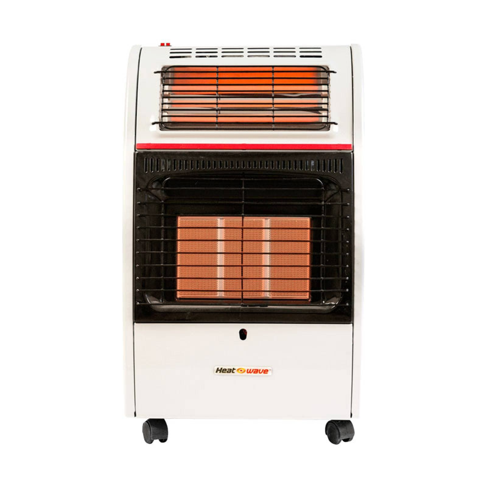 Calefactor 2 en 1 Gas LP 3 Radiantes Turbo HG3RF Heat Wave