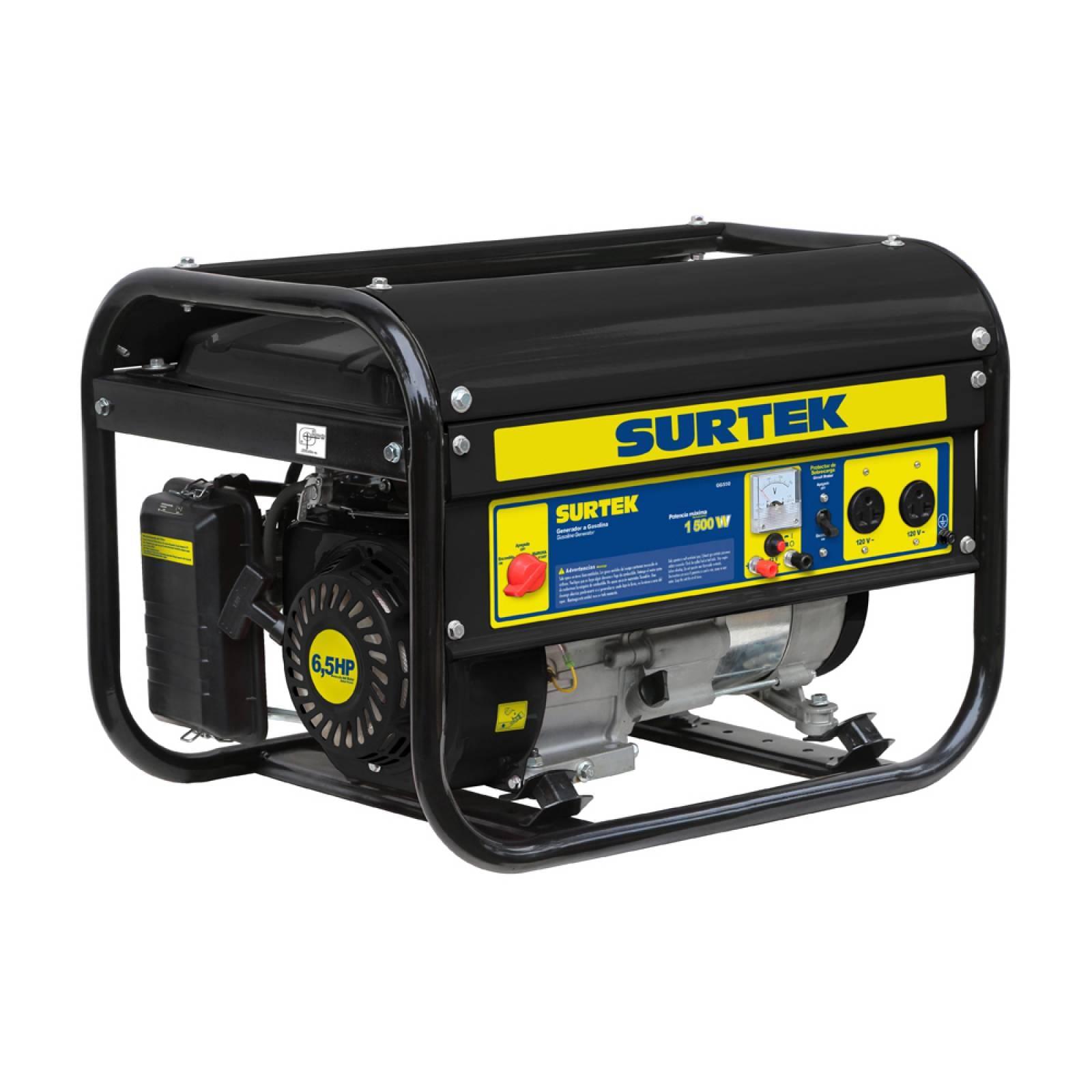 Generador A Gasolina 120V 163Cc 1800W Capacidad 13 L Surtek