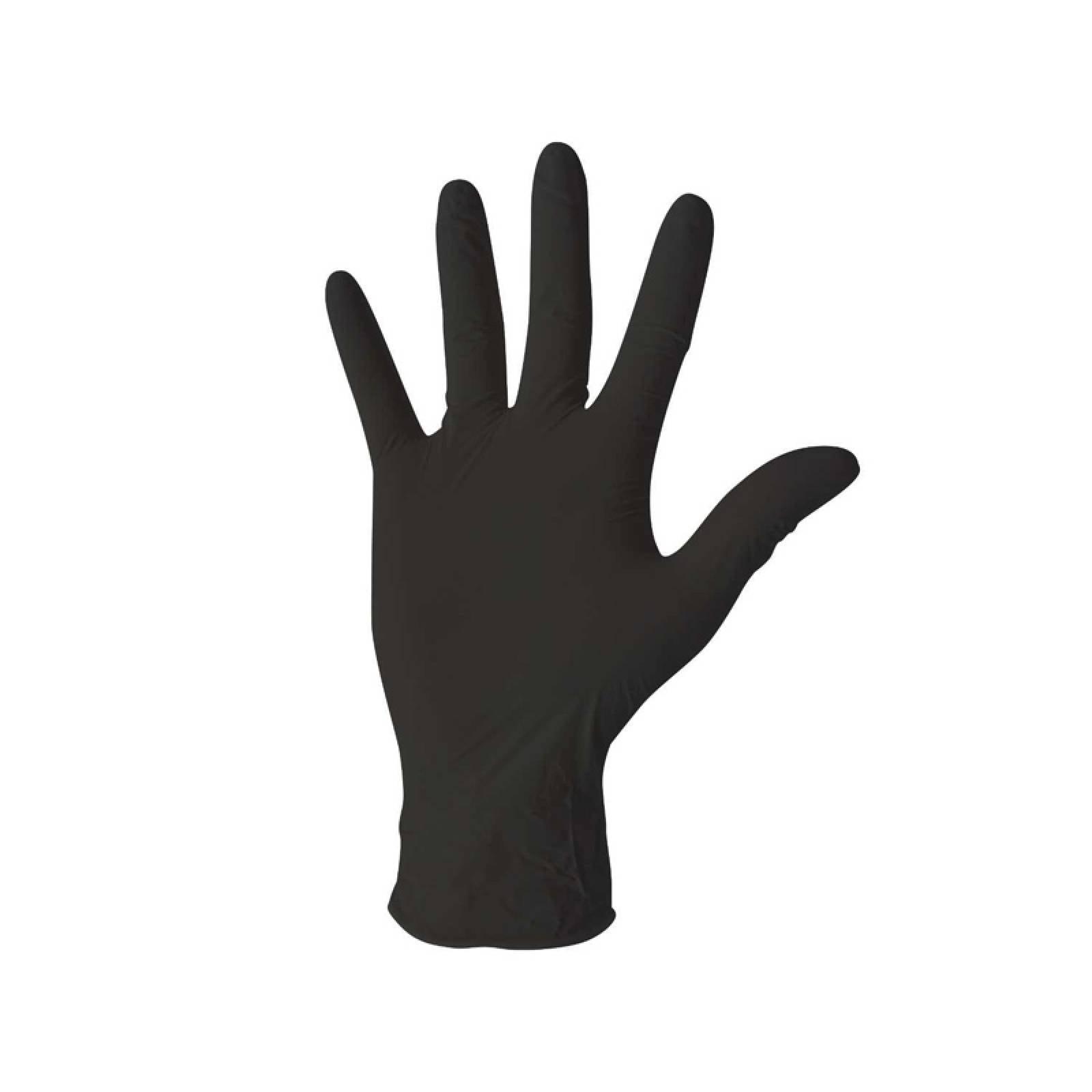 Guante Profesional Mediano Latex Negro Caja 20 Piezas Lobo