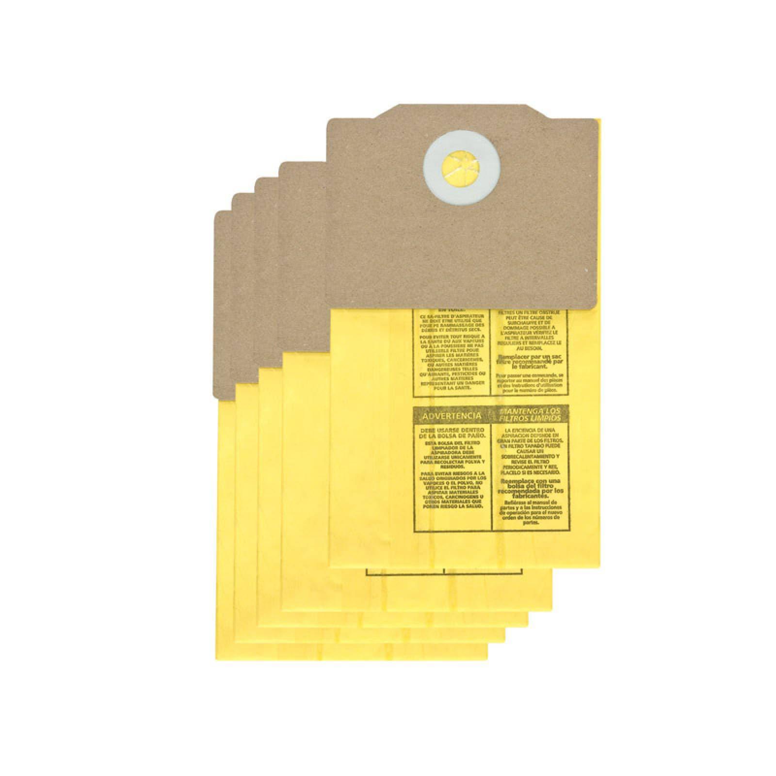 Filtro Papel para Aspiradora Back Pack Paquete 5 Piezas