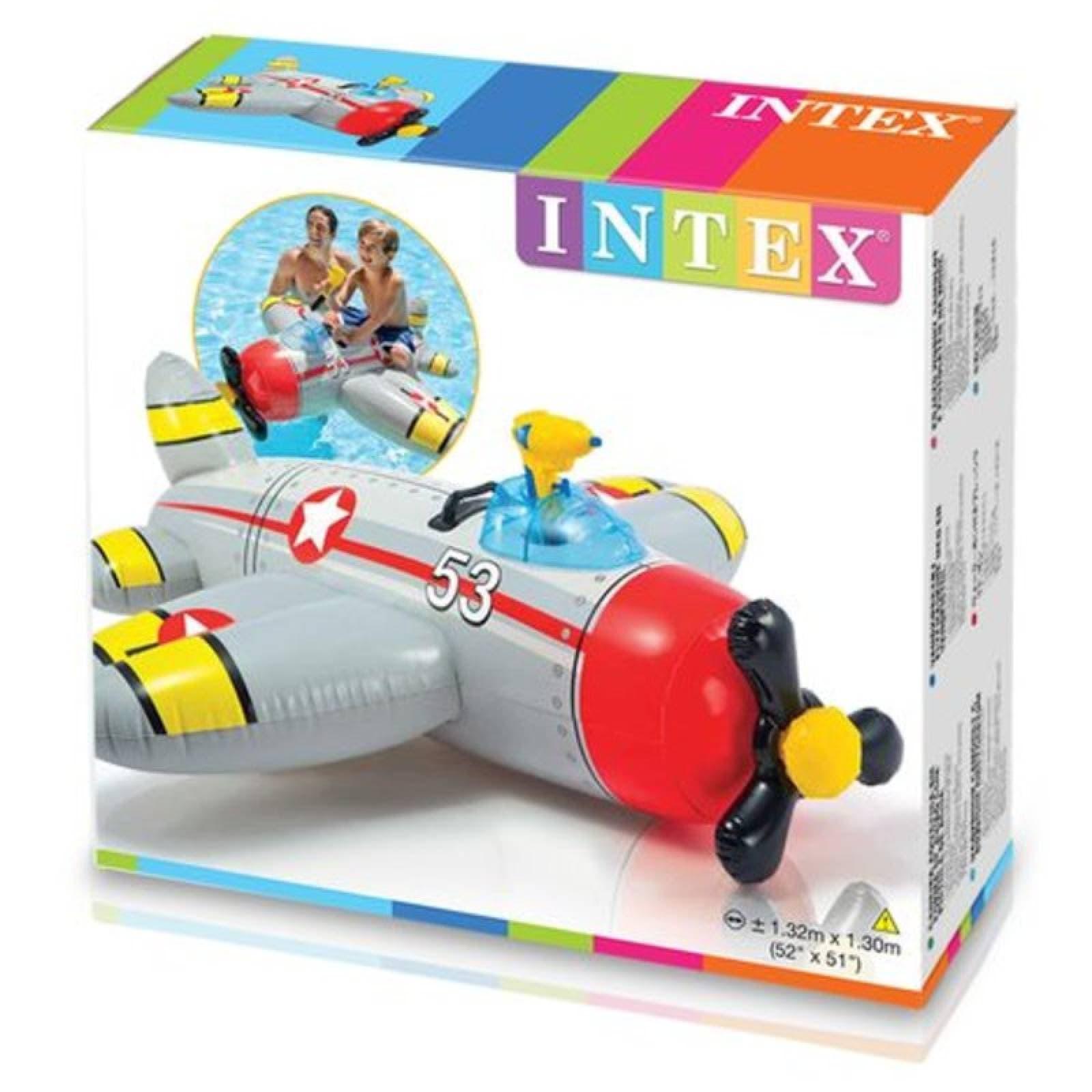 Avion Inflable Con Pistola De Agua  52x51x36 57537Np Intex
