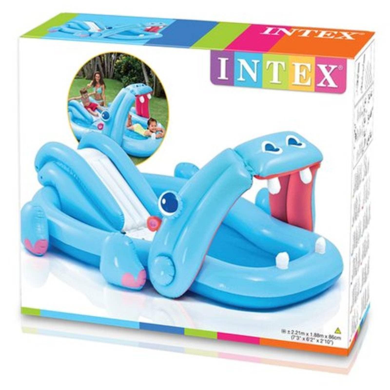 Inflable Hippo Con Tobogan 221 X 188 X 86 Cm Intex
