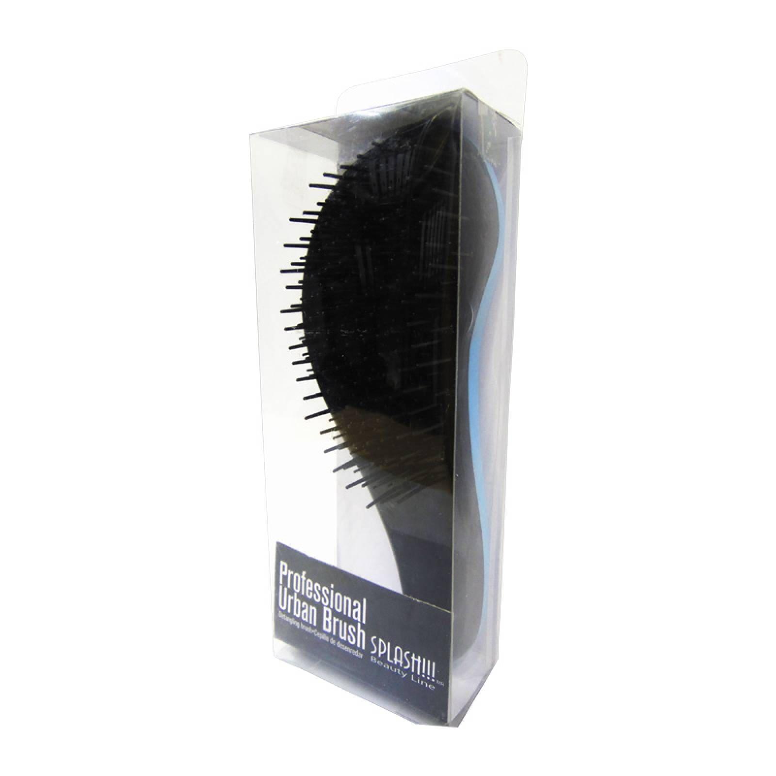 Cepillo Desenredar Cabello Negro con Azul Profesional Splash